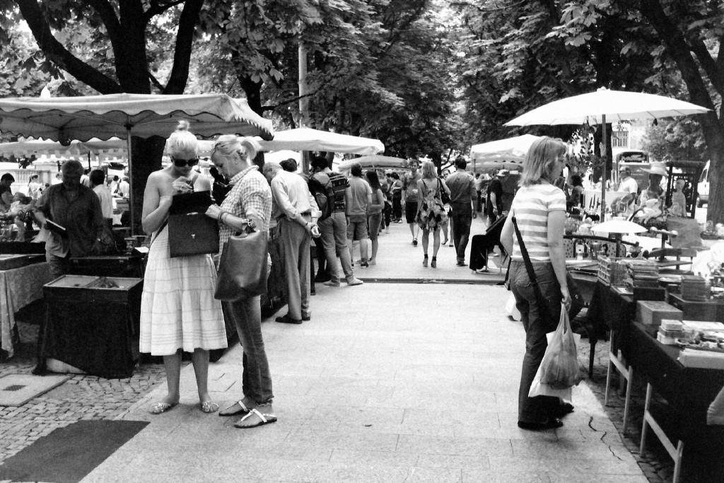 Auf dem Stuttgarter Flohmarkt