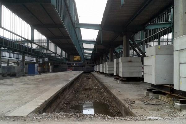 Stuttgart 21, leeres Gleis