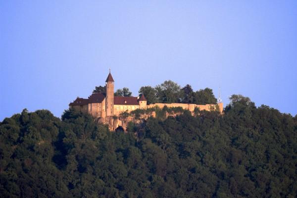 Castle Teck in the evening sun